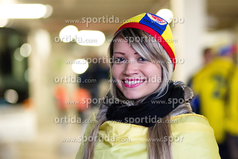 Colombia fans before friendly football match between National teams of Slovenia and Colombia, on November 18, 2014 in SRC Stozice, Ljubljana, Slovenia. Photo by Matic Klansek Velej / Sportida