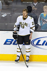 Mar 31, 2012; San Jose, CA, USA; Dallas Stars center Steve Ott (29) warms up before the game against the San Jose Sharks at HP Pavilion. San Jose defeated Dallas 3-0. Mandatory Credit: Jason O. Watson-US PRESSWIRE
