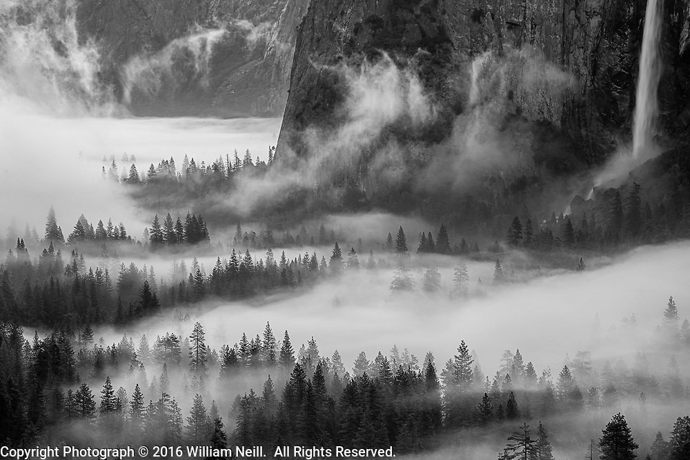 Morning Mist at dawn, Yosemite Valley, Yosemite National Park, California 2016
