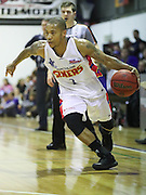 13/09/2016 Adelaide 36ers v Shandong Golden Stars at Waikerie. Adelaide 36ers Jerome Randle dribbles past the defence.