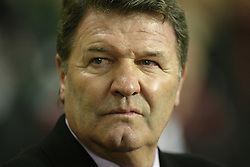 CARDIFF, WALES - WEDNESDAY FEBRUARY 9th 2005: Wales' new manager John Toshack takes charge of his first match during the International Friendly match at the Millennium Stadium with Hungary. (Pic by Jason Cairnduff/Propaganda)