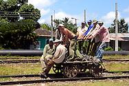 Hand car in Jesus Menendez, Las Tunas, Cuba.