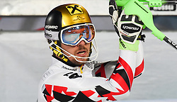26.01.2016, Planai, Schladming, AUT, FIS Weltcup Ski Alpin, Schladming, Slalom, Herren, 2. Durchgang, im Bild Marcel Hirscher (AUT) // Marcel Hirscher of Austria reacts after his 2nd run of men's Slalom Race of Schladming FIS Ski Alpine World Cup at the Planai in Schladming, Austria on 2016/01/26. EXPA Pictures © 2016, PhotoCredit: EXPA/ Erich Spiess