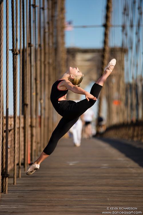 Dance As Art  New York City Photography Brooklyn Bridge Series with dancer, Mykaila Symes