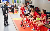 HAMBURG  (Ger) - Match 20,  for FINAL, LMHC Laren - Dinamo Elektrostal (Rus)  Photo: coach Svetlana Ivanova (Elektr.)Eurohockey Indoor Club Cup 2019 Women . WORLDSPORTPICS COPYRIGHT  KOEN SUYK
