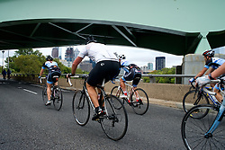 The temporary car-free zone at South St. is connected by the Schuylkill River Trail to Martin Luther King Jr. Drive, creating a ten mile long heaven for cyclist.