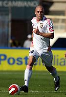 """Empoli (Italy) Stadium """"Carlo Castellani"""" Serie A Championship match day 6 30/09/2007<br /> Empoli F.C.-U.S.Palermo<br /> Roberto Guana del Palermo. Empoli and Palermo 3-1.<br /> Photo by Gianni Nucci/Insidefoto"""