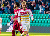 05/06/15 INTERNATIONAL CHALLENGE MATCH<br /> SCOTLAND v QATAR<br /> EASTER ROAD STADIUM - EDINBURGH<br /> Scotland midfielder Matt Richie celebrates his winning goal