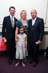 COUNT & COUNTESS MANFREDIE DELLA GHERARDESCA and their daughter MARGARITA and Vladimir Kekhman  at the Yota launch of Mikhailovsky Ballet's Swan Lake held at the London Coliseum, St.Martin's Lane, London on 13th July 2010.