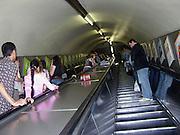 The underground Interior Escalator, London