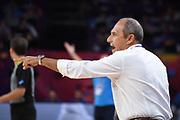 Ettore Messina<br /> Nazionale Italiana Maschile Senior<br /> Eurobasket 2017 - Final Phase - 1/4 Finals<br /> Italia Serbia Italy Serbia<br /> FIP 2017<br /> Istanbul, 13/09/2017<br /> Foto M.Ceretti / Ciamillo - Castoria
