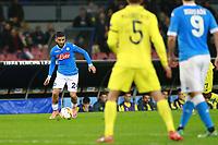 Lorenzo Insigne Napoli, <br /> Napoli 25-02-2016 Stadio San Paolo <br /> Football Calcio UEFA Europa League <br /> Sedicesimi di finale, ritorno. Round of 32, second leg. Napoli - Villarreal<br /> Foto Cesare Purini / Insidefoto
