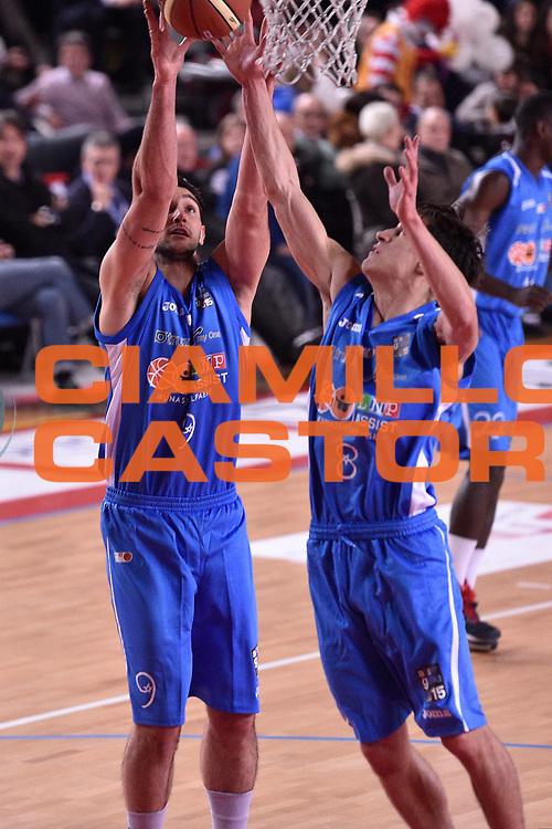 DESCRIZIONE : Mantova LNP 2014-15 All Star Game 2015<br /> GIOCATORE : Riccardo Moraschini Tommaso Laquintana<br /> CATEGORIA : Rimbalzo<br /> EVENTO : All Star Game LNP 2015<br /> GARA : All Star Game LNP 2015<br /> DATA : 06/01/2015<br /> SPORT : Pallacanestro <br /> AUTORE : Agenzia Ciamillo-Castoria/ GiulioCiamillo<br /> Galleria : LNP 2014-2015 <br /> Fotonotizia : Mantova LNP 2014-15 All Star game 2015<br /> Predefinita :