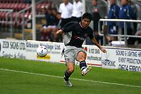 Photo: Marc Atkins.<br /> <br /> Northampton Town v Reading. Pre Season Friendly. 22/07/2006.Ki-hyeon Seol  of Reading in action.