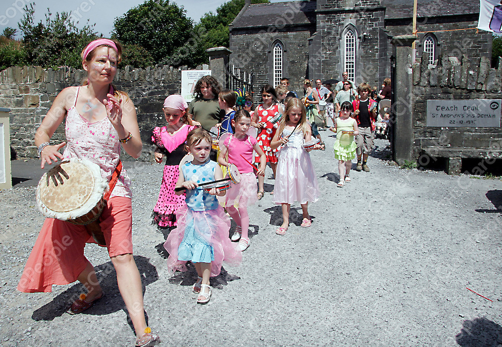 A big crowd turned up to take part in the childrens mardi - gras as part of the Ennistymon Family Festival at the weekend.<br /><br /><br /><br />Photograph by Yvonne Vaughan.