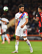 Andros Townsend (10) of Crystal Palace during the Premier League match between Bournemouth and Crystal Palace at the Vitality Stadium, Bournemouth, England on 1 October 2018.