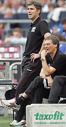 31.07.2010,  Veltnis-Arena, Gelsenkirchen, GER, 1.FBL, FC Bayern Muenchen - 1. FC Koeln, Liga total! Cup 2010, im Bild Zvonimir Soldo (Trainer Koeln) und Michael Henke (Co-Trainer Koeln) sind nicht zufrieden  EXPA Pictures © 2010, PhotoCredit: EXPA/ nph/  Mueller+++++ ATTENTION - OUT OF GER +++++ / SPORTIDA PHOTO AGENCY