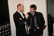 Gavin Turk and Graham Wood, Other,Riyas Komu and Peter Drake. - VIP  launch of Aicon. London's largest contemporary Indian art gallery. Heddon st. and afterwards at Momo.15 Marc h 2007.  -DO NOT ARCHIVE-© Copyright Photograph by Dafydd Jones. 248 Clapham Rd. London SW9 0PZ. Tel 0207 820 0771. www.dafjones.com.