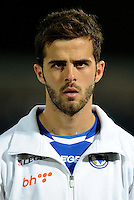 Football Fifa Brazil 2014 World Cup Matchs-Qualifier / Europe - Group G /<br /> Lithuania vs Bosnia-Herzegovina 0-1 ( S. Darius & S. Girenas Stadium - Kaunas, Lithuania )<br /> Miralem PJANIC of Bosnia-Herzegovina , during the match between Lithuania and Bosnia-Herzegovina