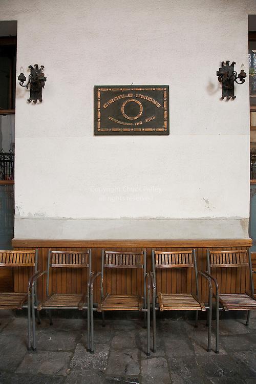 Meeting place of the Circolo Unione, Costituito nel 1883, Cefalu, Sicily, Italy