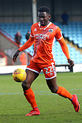 Shrewsbury Town defender Aristote Nsiala (22) controls the ball  during the EFL Sky Bet League 1 match between Scunthorpe United and Shrewsbury Town at Glanford Park, Scunthorpe, England on 17 March 2018. Picture by Mick Atkins.