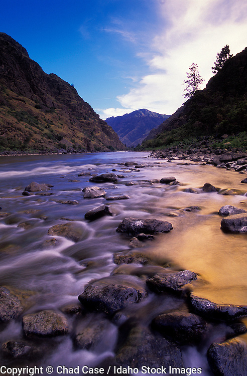 THIS PHOTO IS AVAILABLE FOR WEB DOWNLOAD ONLY. PLEASE CONTACT US FOR A LARGER PHOTO. Idaho. Snake River and Hells Canyon at sunset.