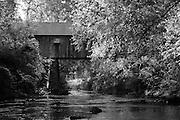 Old covered bridge over Nickajack Creek in Smyrna, GA, USA