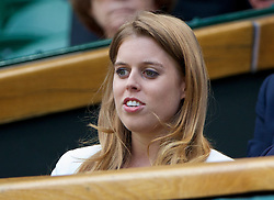 LONDON, ENGLAND - Wednesday, July 2, 2014: Beatrice Windsor (Princess of York) during the Ladies' Singles Quarter-Final match on day nine of the Wimbledon Lawn Tennis Championships at the All England Lawn Tennis and Croquet Club. (Pic by David Rawcliffe/Propaganda)