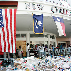 Victims of the hurricane wait at the new Orleans Center to board buses to be taken to a shelter during the aftermath of Hurricane Katrina Saturday, September 3, 2005 in New Orleans, Louisiana.  <br /> (Pasadena Star-News Keith Birmingham)