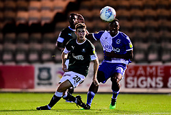Victor Adeboyejo of Bristol Rovers has a shot on goal, - Mandatory by-line: Ryan Hiscott/JMP - 03/09/2019 - FOOTBALL - Home Park - Plymouth, England - Plymouth Argyle v Bristol Rovers - Leasing.com Trophy