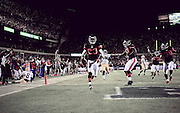 Devin Hester scores on a punt return versus the Packers Monday evening..Michael R. Schmidt