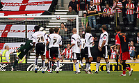 Photo: Rich Eaton.<br /> <br /> Derby County v Southampton. Coca Cola Championship.<br /> <br /> 06/08/2006. #22 out of shot Gareth Bale scores Southamptons second goal