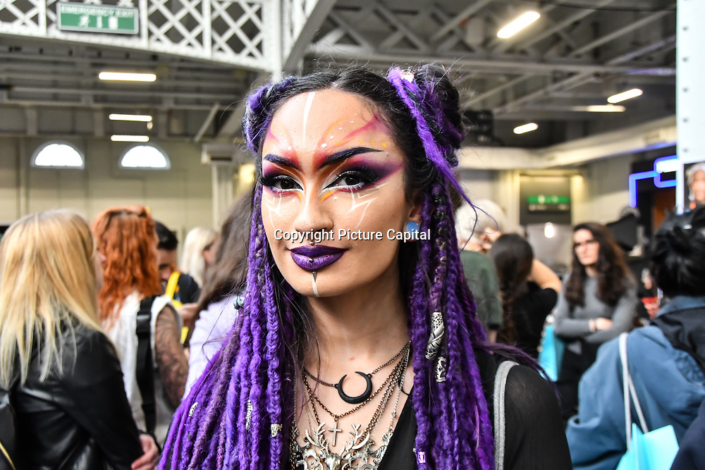 Gigi Myra Diana is a Fantastical Makeup Artistry attend IMATS London on 18 May 2019,  London, UK.