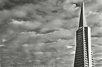Transamerica Building under unusual afternoon clouds in San Francisco, CA.  Copyright 2007 Reid McNally.