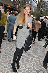 AMBER NUTTALL at the opening of the Dairy Art Centre, 7a Wakefield Street, Bloomsbury, London WC1 on 24th April 2013.