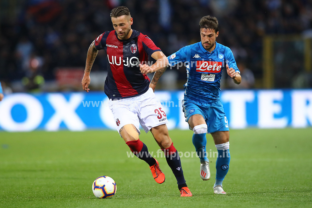 "Foto LaPresse/Filippo Rubin<br /> 25/05/2019 Bologna (Italia)<br /> Sport Calcio<br /> Bologna - Napoli - Campionato di calcio Serie A 2018/2019 - Stadio ""Renato Dall'Ara""<br /> Nella foto: MITCHELL DIJKS (BOLOGNA F.C.)<br /> <br /> Photo LaPresse/Filippo Rubin<br /> May 25, 2019 Bologna (Italy)<br /> Sport Soccer<br /> Bologna vs Napoli - Italian Football Championship League A 2018/2019 - ""Dall'Ara"" Stadium <br /> In the pic: MITCHELL DIJKS (BOLOGNA F.C.)"