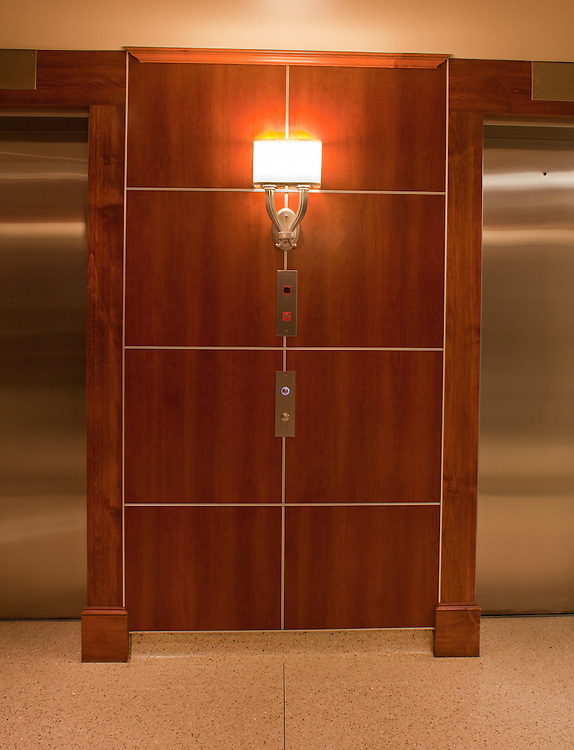 Decorative Sconce Illuminates Elevator Lobby at St. David's Medical Center