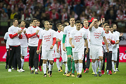 October 8, 2017 - Warsaw, Poland - The Polish players celebrate during the FIFA World Cup 2018 Qualifying Round Group E match between Poland and Montenegro at National Stadium in Warsaw, Poland on October 8, 2017  (Credit Image: © Andrew Surma/NurPhoto via ZUMA Press)