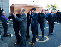 Nephews of the former Bishop of Galway Dr. Eamonn Casey at Galway Cathedral carrying his remains from galway Cathedral <br />  Photo: Andrew Downes,  xposure