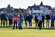 Brandon Wu (USA) plays to the first green during the Sunday Foursomes in the Walker Cup at the Royal Liverpool Golf Club, Sunday, Sept 8, 2019, in Hoylake, United Kingdom. (Steve Flynn/Image of Sport)