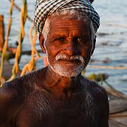 Portret van een visser, Zuid India
