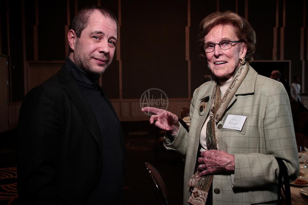 Seattle Opera January 2012 Donor Luncheon with conductor Carlo Montanaro.