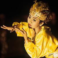 Indonesia, Bali, Traditional Balinese dance performance in Ubud.