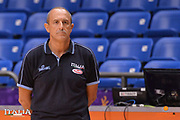 Ettore Messina<br /> Nazionale Italiana Maschile Senior<br /> Eurobasket 2017 - Group Phase<br /> Allenamento<br /> FIP 2017<br /> Tel Aviv, 31/08/2017<br /> Foto Ciamillo - Castoria/ M.Longo