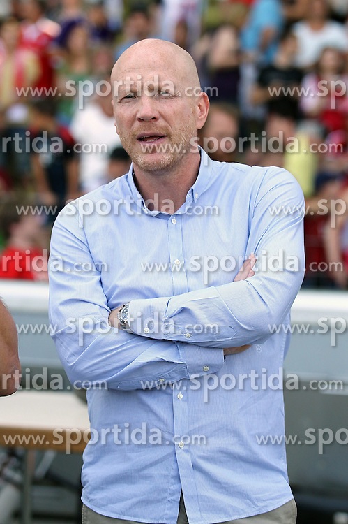 09.08.2015, Wildparkstadion, Karlsruhe, GER, DFB Pokal, FC Noettingen vs FC Bayern Muenchen, im Bild Matthias Sammer (Sportvorstand FC Bayern Muenchen) // during German DFB Pokal first round match between FC Noettingen and FC Bayern Muenchen at the Wildparkstadion in Karlsruhe, Germany on 2015/08/09. EXPA Pictures &copy; 2015, PhotoCredit: EXPA/ Eibner-Pressefoto/ Neis<br /> <br /> *****ATTENTION - OUT of GER*****