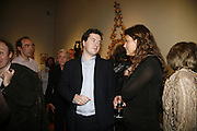 George osborne and Mark Sanderson, Party to celebrate the publication of Too Close To The Sun: The Life and Times of Denys Finch Hatton by Sara Wheeler, Christies. King St. St. James. London. 9 March 2006. ONE TIME USE ONLY - DO NOT ARCHIVE  © Copyright Photograph by Dafydd Jones 66 Stockwell Park Rd. London SW9 0DA Tel 020 7733 0108 www.dafjones.com