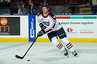 KELOWNA, BC - OCTOBER 2:  Wil Kushniryk #27 of the Tri-City Americans warms up with the puck against the Kelowna Rockets  at Prospera Place on October 2, 2019 in Kelowna, Canada. (Photo by Marissa Baecker/Shoot the Breeze)
