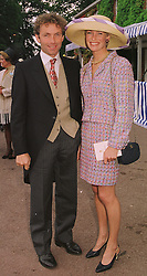 MR JOHNNIE FRANCOME and his close friend MRS TRACEY BAILEY, estranged wife of Kim Bailey, at Royal Ascot on 16th June 1998.MIL 3
