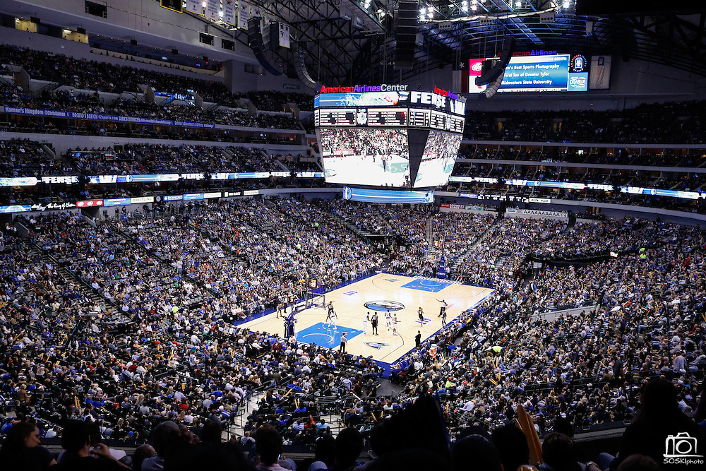 The Dallas Mavericks host the San Antonio Spurs at American Airlines Center in Dallas, Texas, on January 25, 2013.  (Stan Olszewski/The Dallas Morning News)