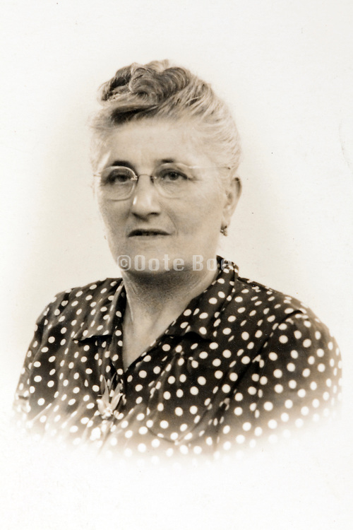 classic head and shoulder portrait of an adult woman 1951